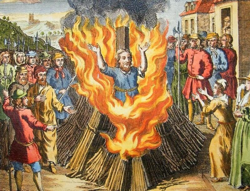 Еретик горит на костре