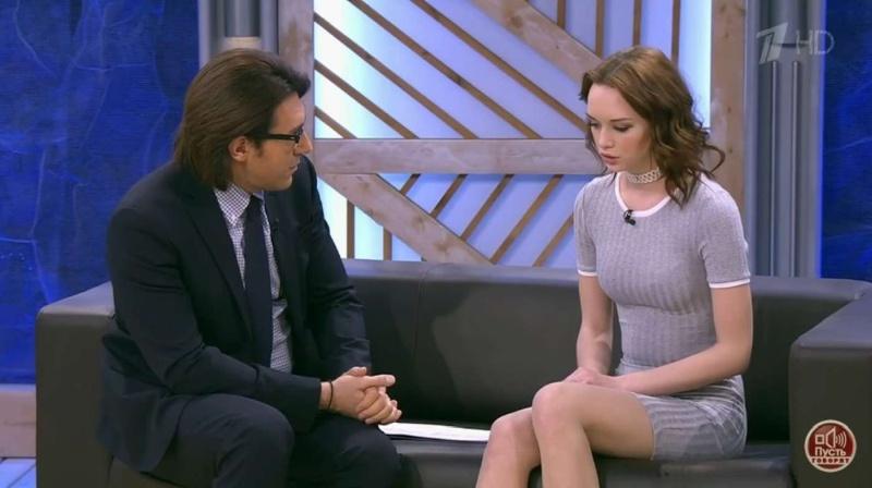 Андрей Малахов и Диана Шурыгина на Первом канале в Пусть говорят