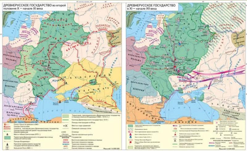Древнерусское государство на карте