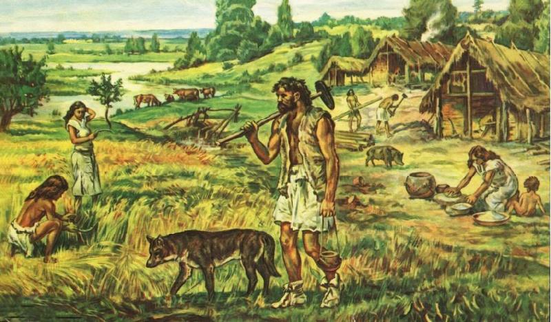 Неолитическая революция - появление первых скотоводов, земледельцев и ремесленников