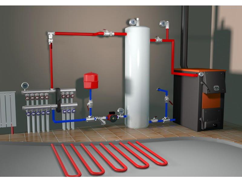 Печное водяное отопление частного дома